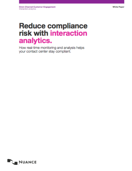 Nuance Analytics Risk and Compliance