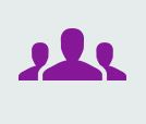 Group of people icon purple